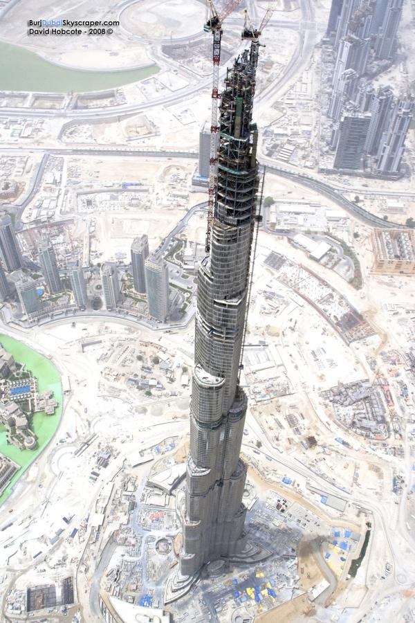 Фото строительства Burj Dubai