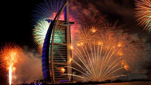 Новогодний салют в Дубаи 2013