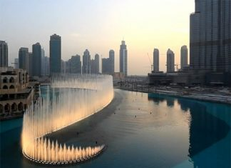 Поющий фонтан Дубаи фото и видео