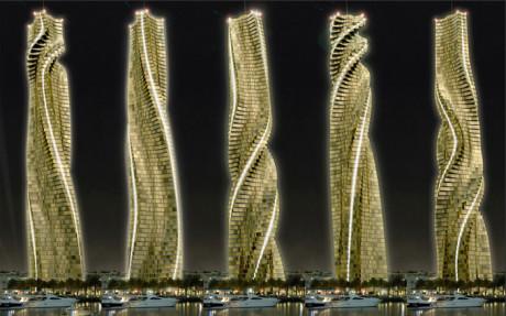 Вращающийся небоскреб предлагают построить в Дубаи