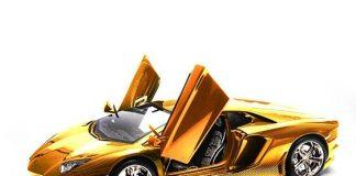 Модель золотого Lamborghini Aventador LP 700-4 в масштабе 1:8