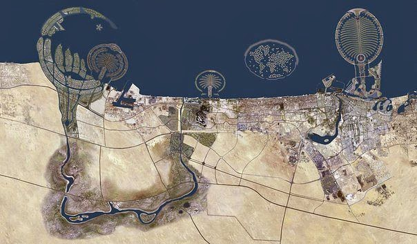 Фото Дубаи из космоса