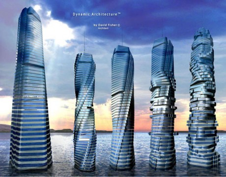 Вращающийся небоскреб в Дубаи