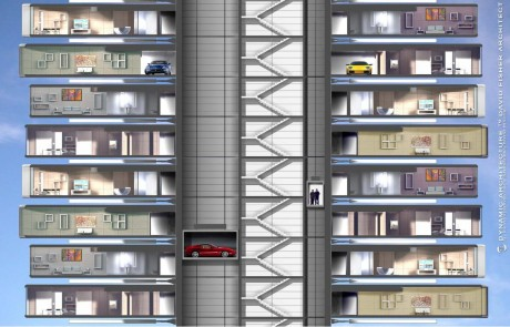 Вращающийся дом Dynamic Tower