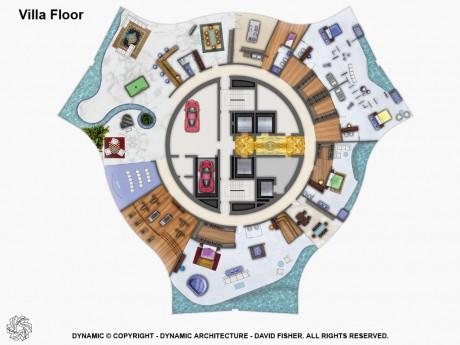 Вращающийся дом в Дубаи