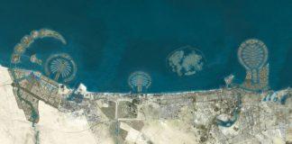 Насыпные острова Карта Мира в Дубаи