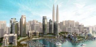 Башни близнецы в Дубаи
