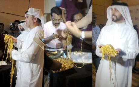 Рекорд золотая цепочка в Дубаи