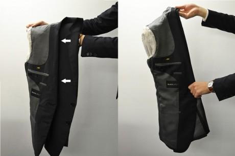 Складывать пиджак изнанкой