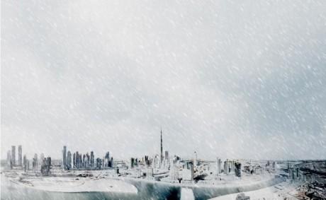 Снег в Дубаи