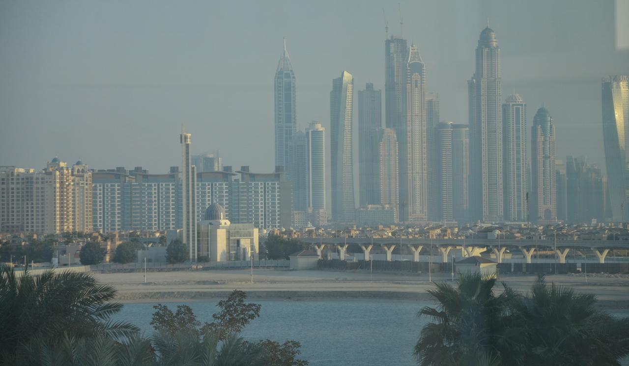 Вид города Дубай