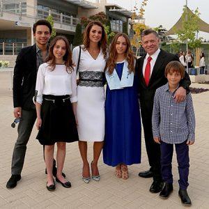 королева Рания с детьми