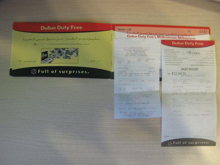 лотерея в дьюти фри Дубая