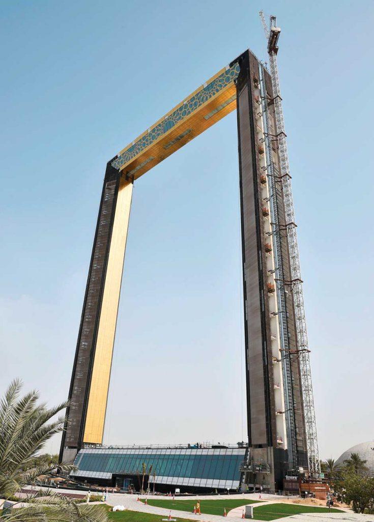 В Дубае откроют грандиозную золотую арку