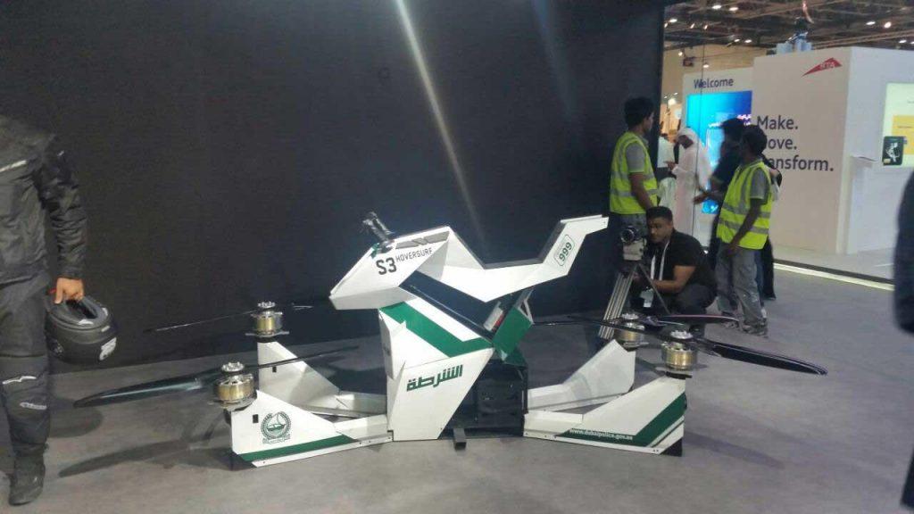 В Дубае провели успешные испытания летающего ховербайка