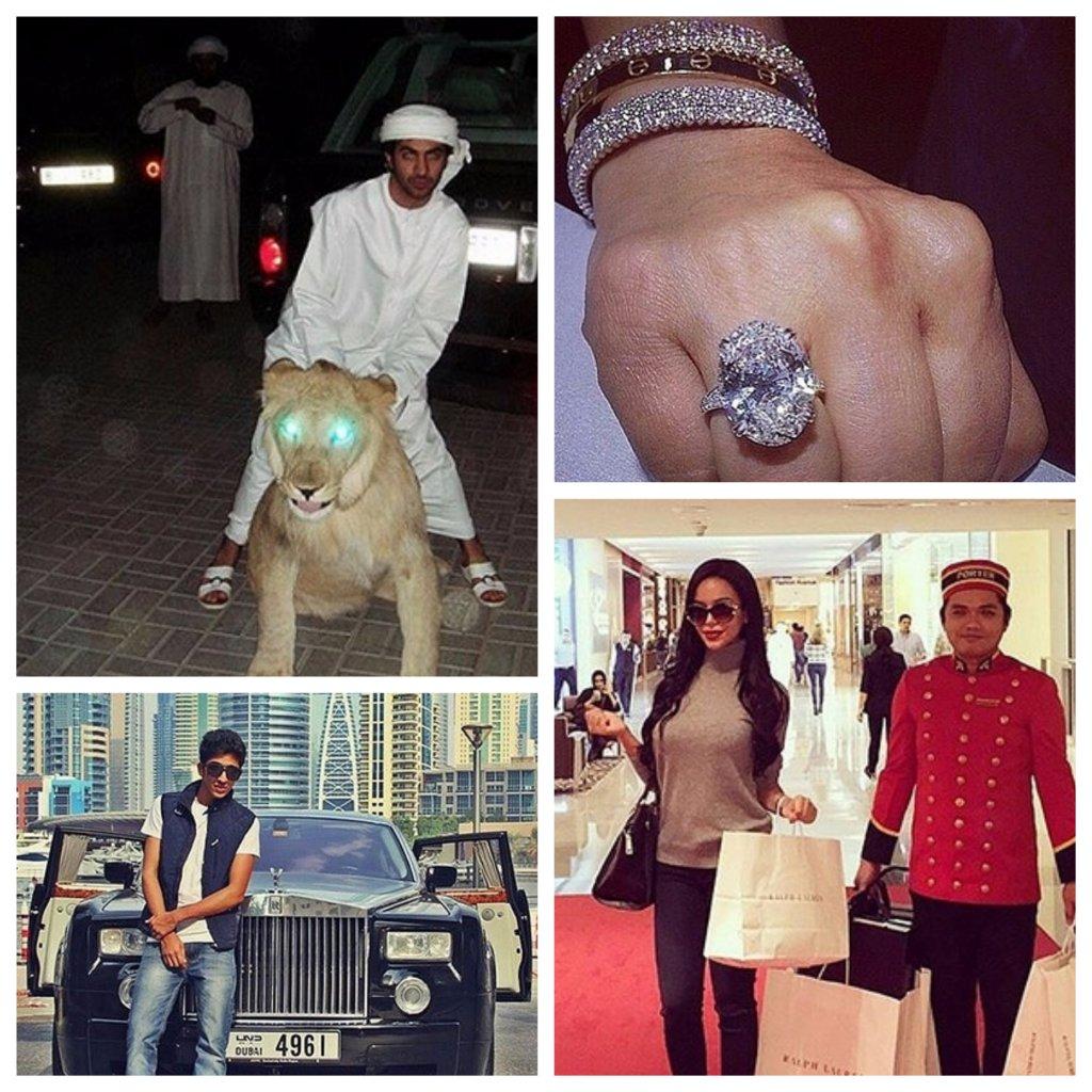 богатые дети Дубая
