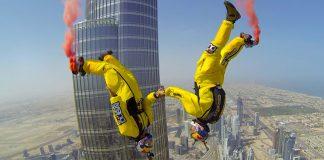 прыжки с парашютом в Дубае